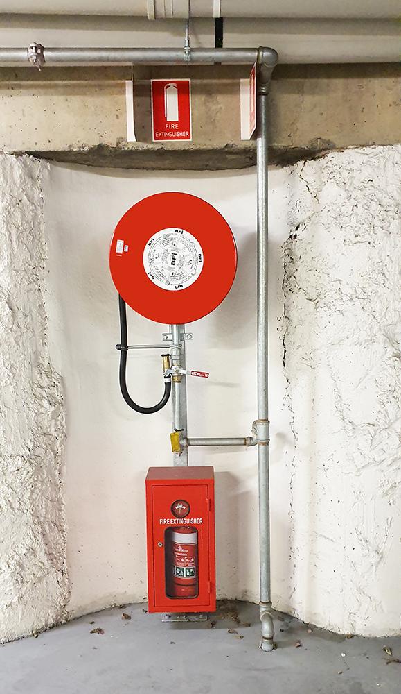 hose reel + extinguisher
